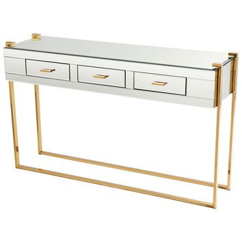 St. Clair Modern Aged Glass & Mirrored Console Table by Cyan Design
