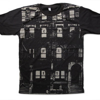 Led Zeppelin Physical Graffiti Handprint T Shirt 70s Album cover NYC Tenement Block Hard Rock Band Shirt Size S M L