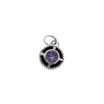 Kamon Sterling Silver And Amethyst February Charm