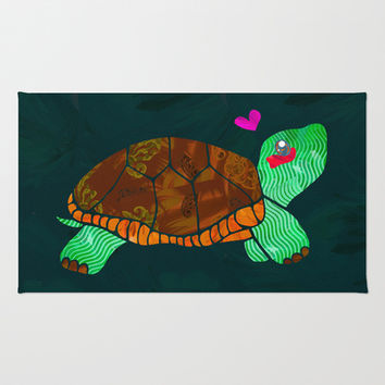 Painted Turtle Area & Throw Rug by Sampsonknight