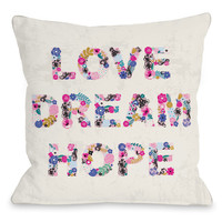Love Dream Hope Pillow by Angela Nickeas