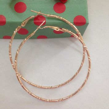 Simple Gold color Big Hoop Earring For Women Statement Fashion Jewelry Accessories Large Circle Round Earrings for female