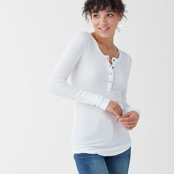 Thermal Long Sleeve Henley Top