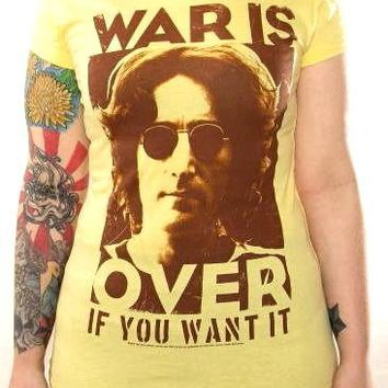 John Lennon Girls T-Shirt - War Is Over