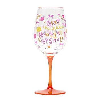 CR Gibson Lolita Ultimate Acrylic Glitter Wine Glass Family collection with Westwood Gourmet Bottle Opener Mommys Sippy Cup
