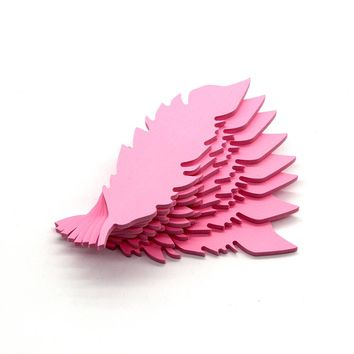 Carveman Ins hot Feather Design  Carve Decorative Art Stencil 3DWall Sticker Wall Picture for Nursery Bedroom Decors INS3D013