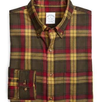 Slim Fit Weathered Flannel MacMillan Sport Shirt - Brooks Brothers
