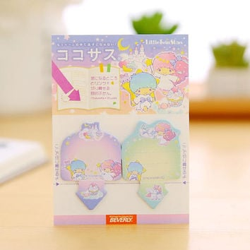 30 SHEETS, Little Twin Star sticky notes, Little Twin Star post its, Twin Star stationery, Little Twin Star, Sanrio post it, Sanrio