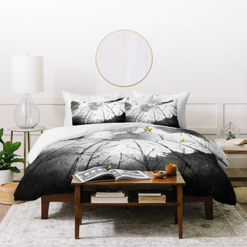 Deniz Ercelebi Woods And Stars Duvet Cover