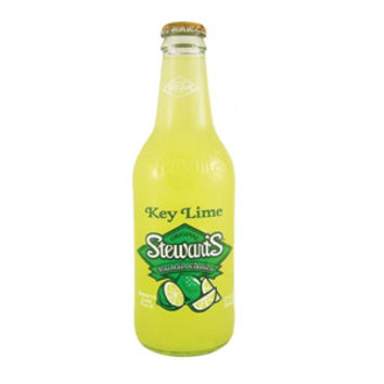 Stewart's Fountain Classics Key Lime 12 oz Glass Bottles - Case of 8