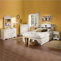"South Shore Furniture, Summer Breeze Collection, Full Mates Bed 54"", Vanilla Cream"