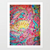 :: Perfectly Paisley :: Art Print by :: GaleStorm Artworks ::