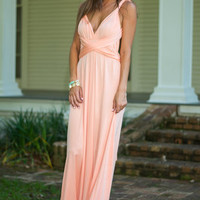 All For One Maxi Dress, Peach