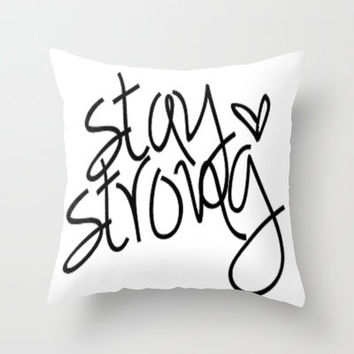 Strong~ Throw Pillow by Sjaefashion | Society6