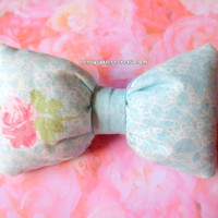 Floral Pastel Chubby Fluffy Bow