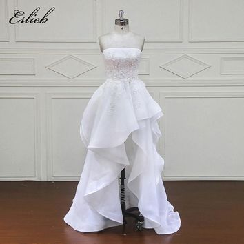 Eslieb 100% Real Photos Luxury Wedding Dresses Court Train Lace Appliques Off the Shoulder Wedding Dress 2018 Vestido xf16085