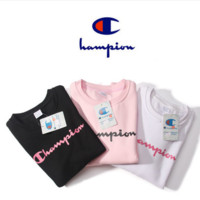 New Products in Autumn and winter Pink men 's round neck long - sleeved sweater cotton sportswear pullovers