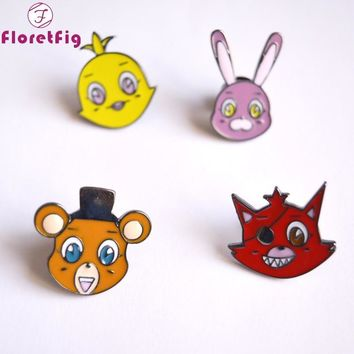 Floretfig  at freddy brooch pins enamel  at freddy figure toys pins brooches safety lapel pins brooches