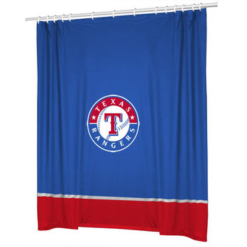 Texas Rangers Sidelines Shower Curtain