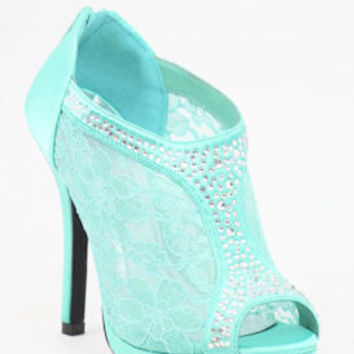 "Mint Sandals with 3 1/2"" heels and 1/2"" platform (Style ""Peyton"" 200-72)"