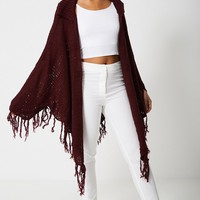 Poncho With Tassel Detail Ex-Branded