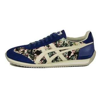 MDIGH3W Onitsuka Tigers Unisex: California 78 Floral Monaco Blue & Slight White Sneaker