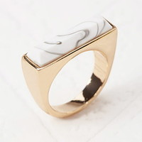 Marbleized Faux Stone Ring