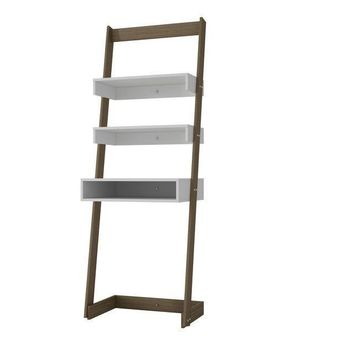 Carpina Ladder Desk White and Oak