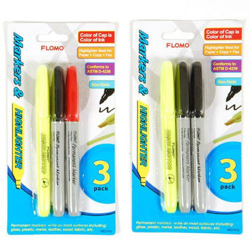 3 pack Marker and Highlighter Multi-Pack