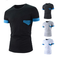 Blue Trim Short Sleeve T-Shirt