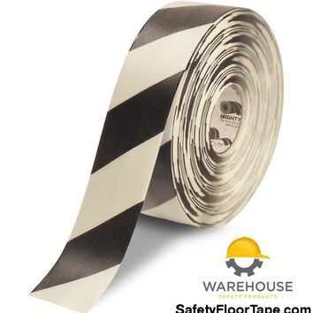 "3"" White Tape with Black Chevrons - 100'  Roll"