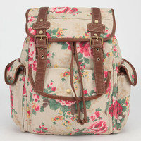 Zoe Blu Floral Print Backpack Brown Combo One Size For Women 24056944901