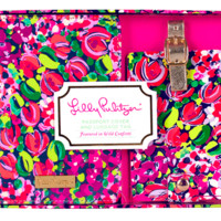 Lilly Pulitzer Luggage Tag and Passport Holder- Wild Confetti- FINAL SALE