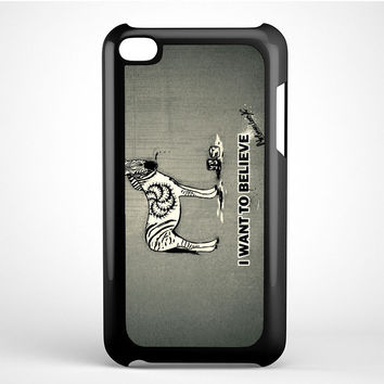 i want to believe zebra Ipod Touch 4 Case