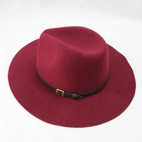 Out West Belted Hat in Burgundy