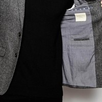 Selected Homme Wool Herringbone Blazer in Slim Fit