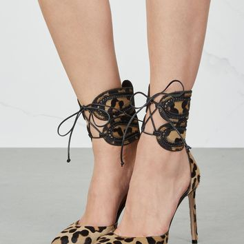 Francesco Russo Leopard-print calf hair pumps