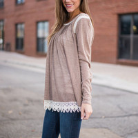The Pleating Of My Heart Top, Mocha