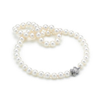 Tiffany & Co. - Tiffany Signature™ necklace of Akoya cultured pearls with 18k white gold.