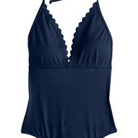 J.Crew Scallop One-Piece Swimsuit | Nordstrom