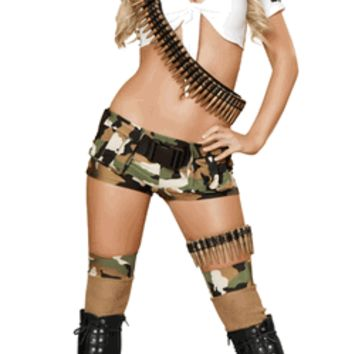 Sexy Five Piece Boot Camp Babe Halloween Costume