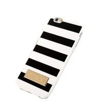 SuperBZ White Black Stripe Design Replacement Victoria Secret TPU Case Cover for Apple iPhone 6 4.7
