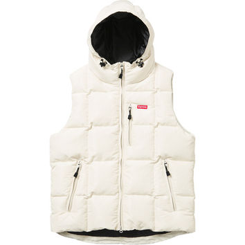 Supreme: Iridescent Puffy Vest - White