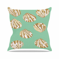 "Rosie Brown ""Scallop Shells"" Throw Pillow"