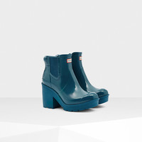 Women's Original Block Heel Gloss Chelsea Boots | Official Hunter Boots Site