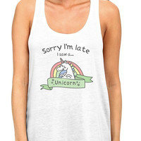 I Saw A Unicorn Tank Top