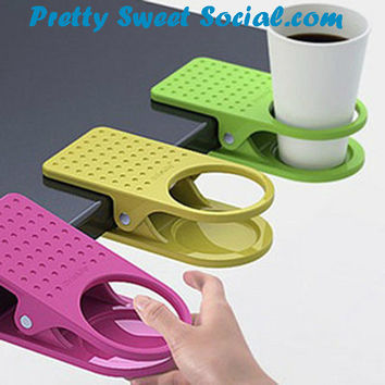 Drink Cup Coffee Mug Table Holder Clip