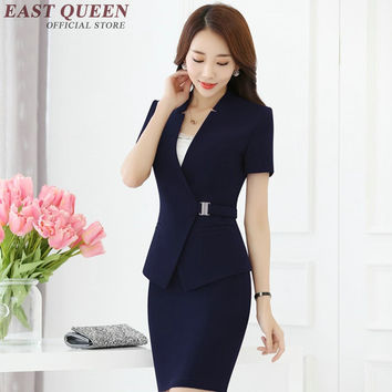 New women suits with skirts elegant female skirt suits bodycon pencil skirt office uniform designs women Business set KK1021 YQ