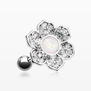 Opal Avens Flower Cartilage Tragus Earring