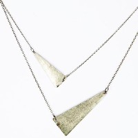 Double Row Triangle Necklace at Urban Outfitters